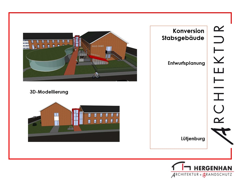 Visualisierung für die Umnutzung eines Stabsgebäudes in Lütjenburg